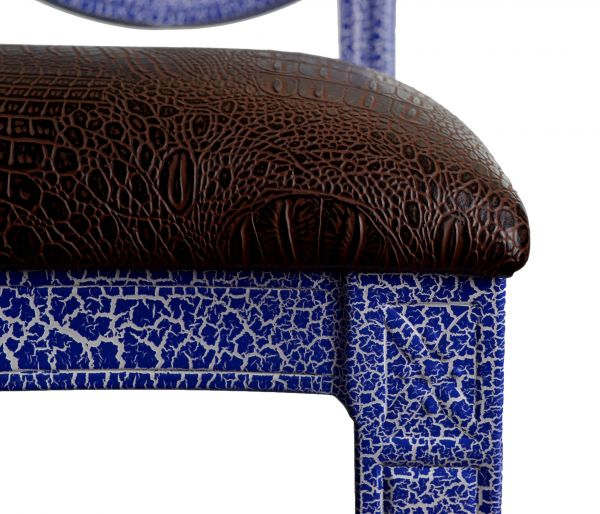 Tonic Banquet Chair - Blue, Seat Close-up