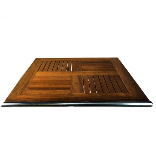 OUTDOOR SLAT TIMBER TABLE TOPS