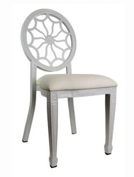 Tonic Banquet Chair - White, Front