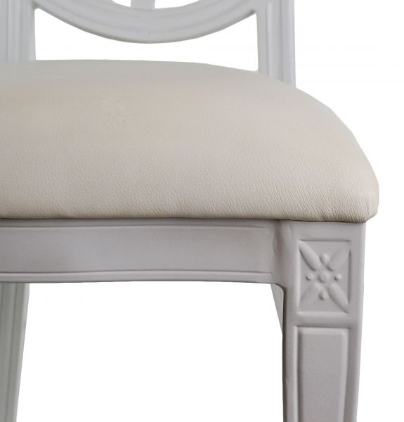 Tonic Banquet Chair - White, Seat Close-up