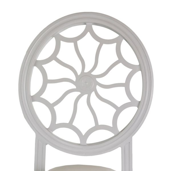 Tonic Banquet Chair - White, Top Close-up